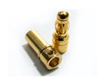 Goldstecker 3.5mm 1Paar
