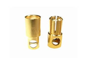 Goldstecker 6mm 1Paar