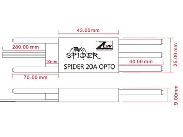 Spider 20A HV OPTO Simonk 2S bis 6S