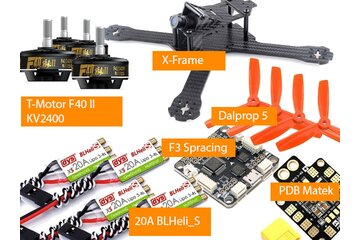 RaceBlade X 214  FPV Racing Quadcopter Kit T-Motor